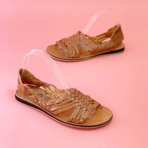 Shoes - Mexican Leather Huaraches Cognac Brown Sandals 8